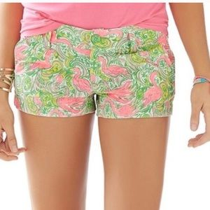 Lilly Pulitzer Hot Wings Walsh Pink Shorts Size 00